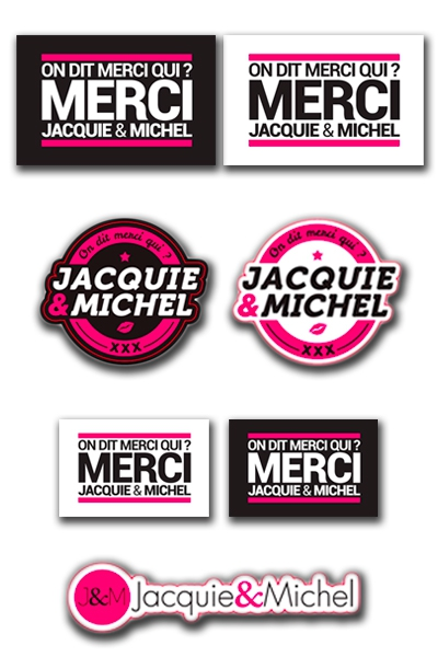Assortiment 7 stickers J&M